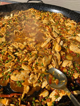 Big Pan Outside Catering, paella, chilli, curries and more.