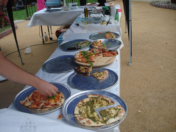 Mobile pizza catering.