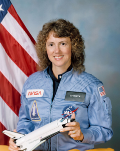 American astronaut and teacher Christa McAuliffe