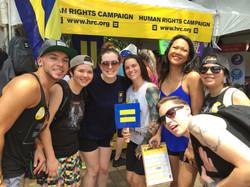 Houston Pride volunteers