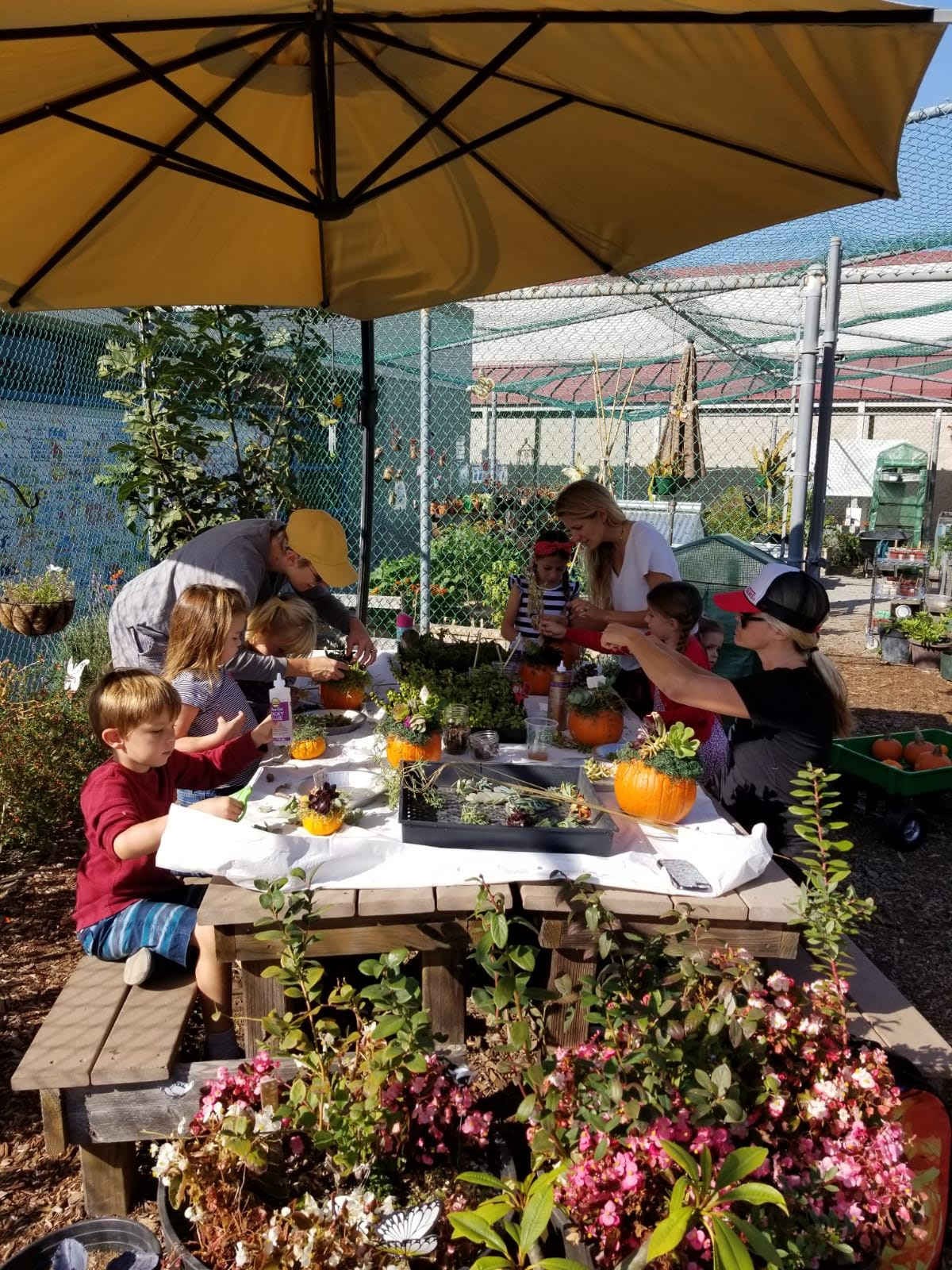 A fun class in the garden!