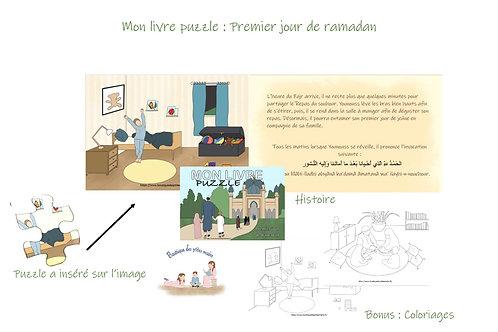 Mon livre puzzle: premier jour de Ramadan