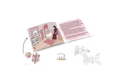 Mon livre puzzle: Un Aid en famille