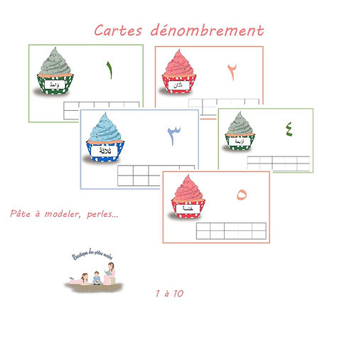Cartes dénombrement Cup cake