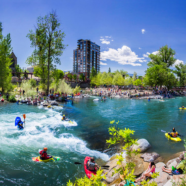 Kayaking on the Truckee River Reno