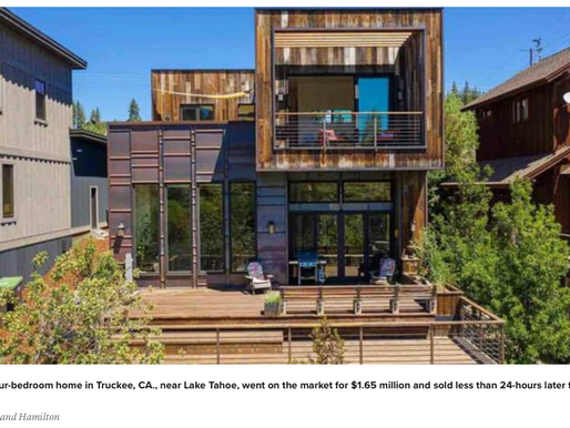 'We're running out of homes for sale,' Lake Tahoe brokers say as tech workers flee Bay Area