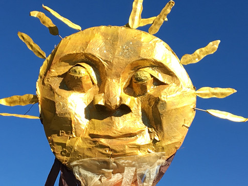 Carrying the Sun Puppet with the Sunrise Youth Movement