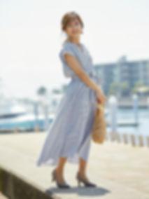 strooney-小柄エレガンス ストライプシャツワンピース.jpg