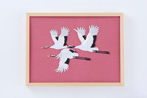 Cranes in spring (No edge)