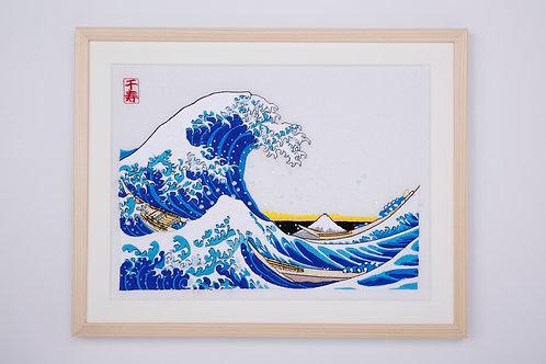 Thirty-six Views of Mt,fuji  The great wave off kanagawa arrenged version