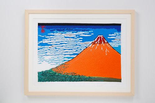 Hokusai   Thirty-six Views of Mt,fuji   Red Fiji  arrenged version (Part2)
