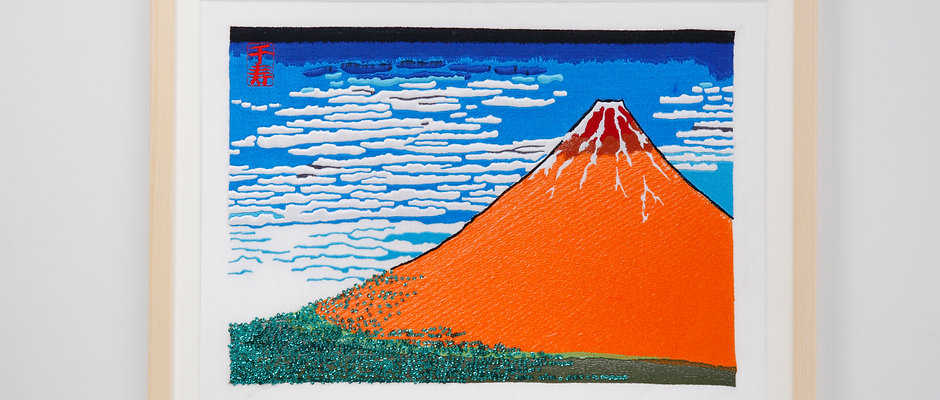 Hokusai   Thirty-six Views of Mt,fuji   Red Fiji  arrenged version (Part2)