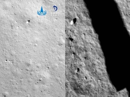 Chang'e 5 inicia operações na superfície após pousar na lua.