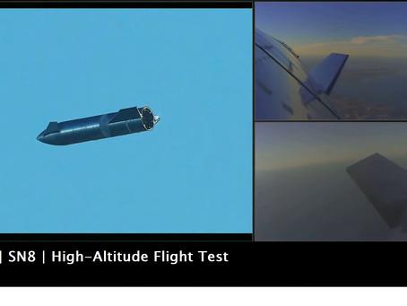 SpaceX realiza teste de vôo em alta altitude com o Starship SN8