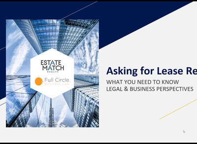 Asking for Lease Relief Webinar