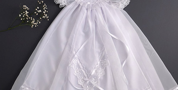 3/4 Length White Dress - 65cm