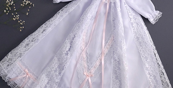 3/4 Length Dress with Pink Ribbon - 65cm