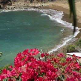 Vue sur plage de Figuier