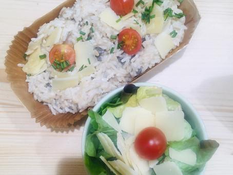 Plat du jour : risotto aux cèpes . Un régal !