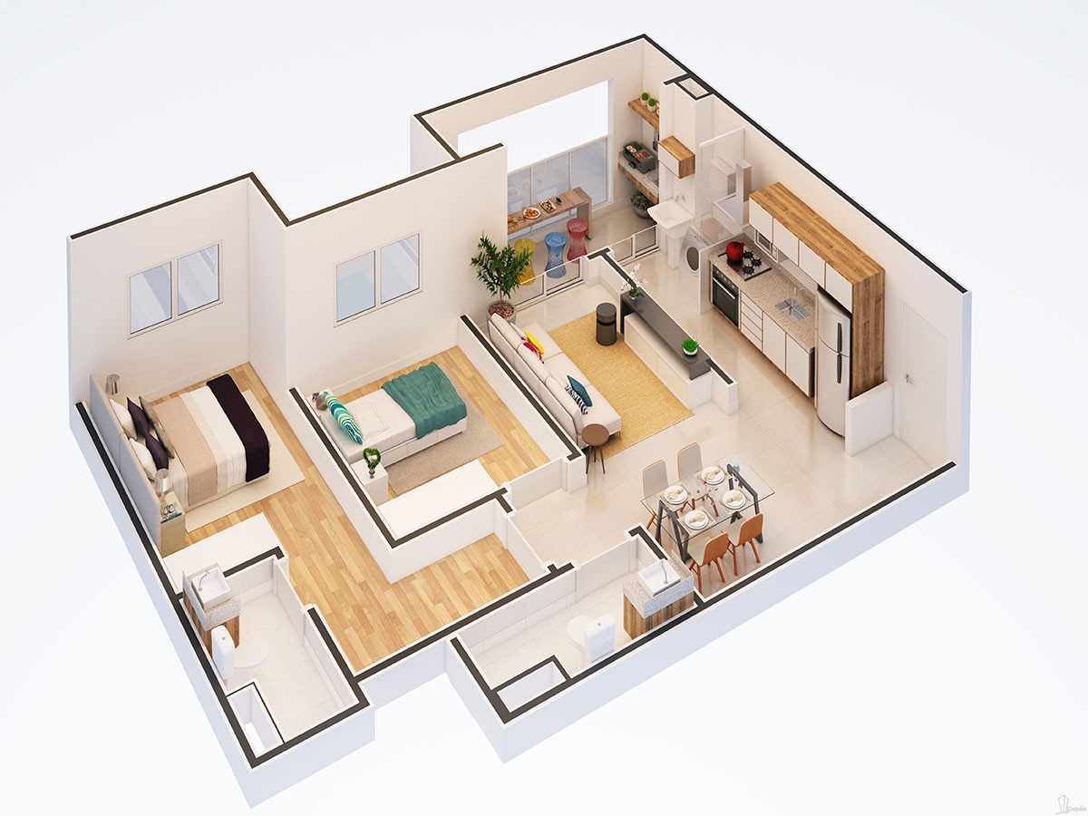 planta-isometrica-dois-dormitorios-resid