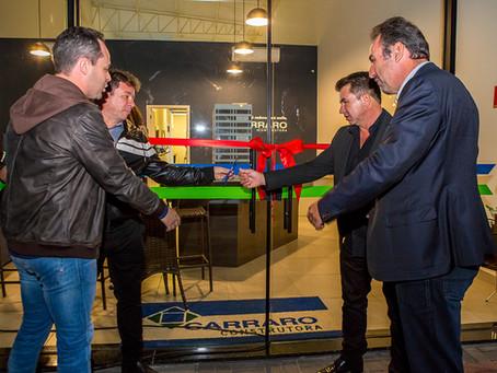 Construtora CARRARO entra com o pé direito em Atibaia – Inauguração de sua Filial.
