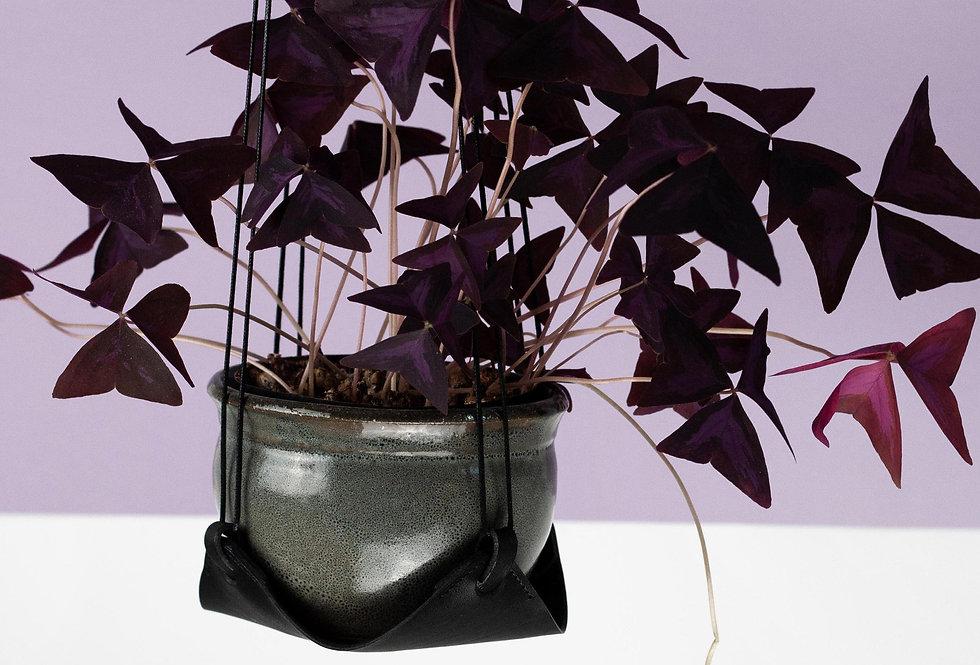 Blumenampel/Pflanzenhänger // schwarz