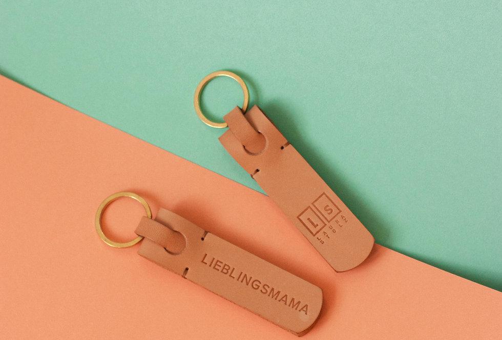 Schlüsselanhänger // beige