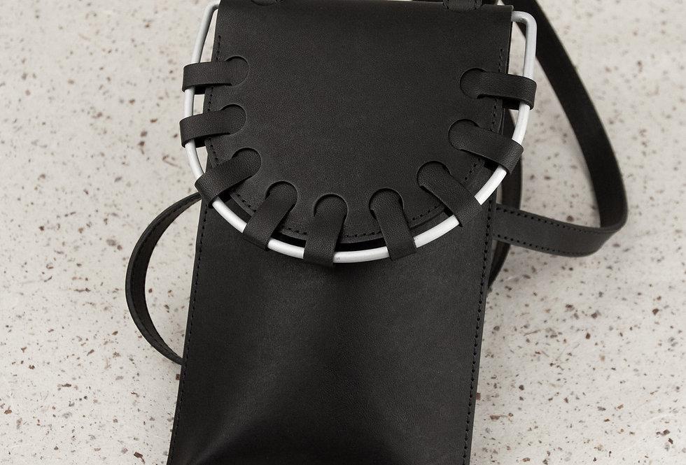 phone. Smartphonetasche, schwarz
