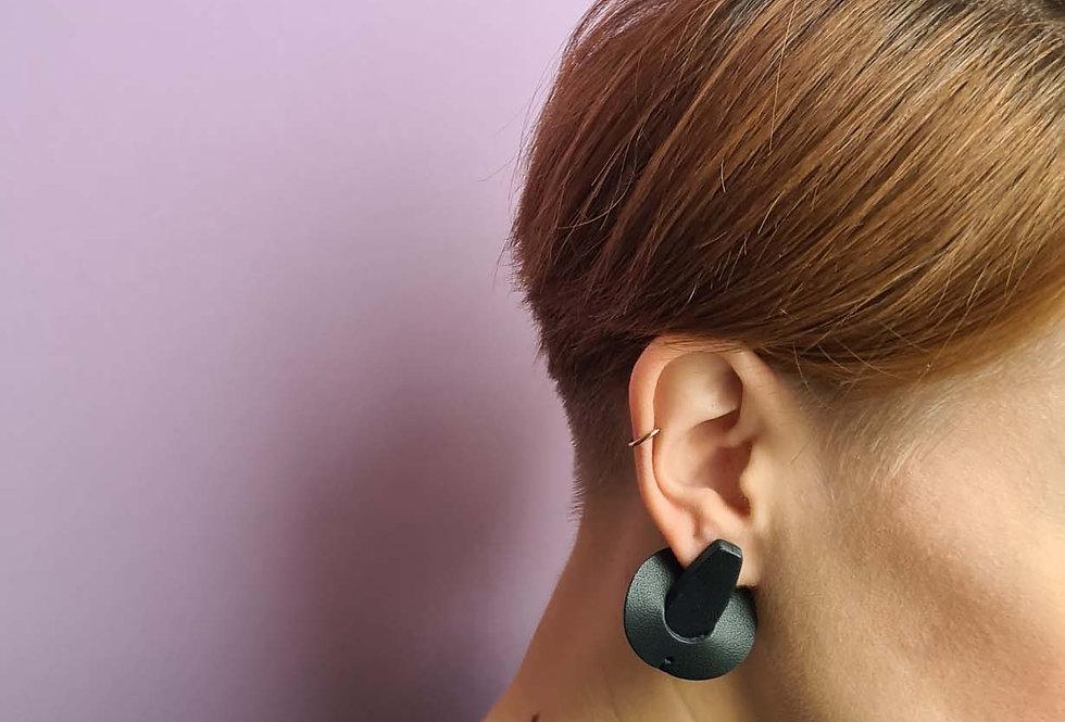 Ohrringe   Saturn // schwarz