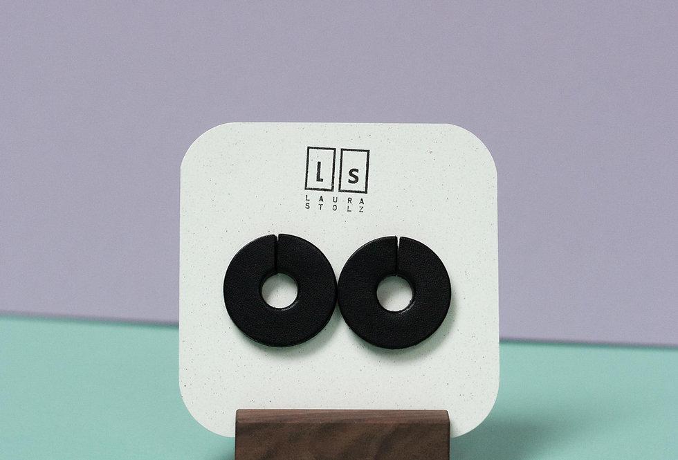 Ohrringe | Kringel // schwarz