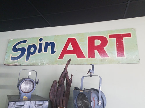 Spin Art Sign
