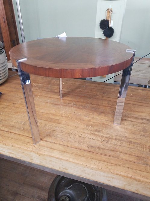 Chrome and Rosewood Table