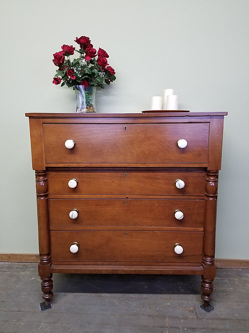 Antique Chest of Drawers with White Marble Knobs
