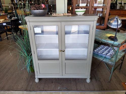 Two Door Green Bookcase