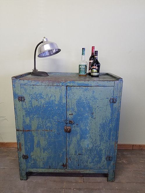 Two Door Primitive Antique Cupboard