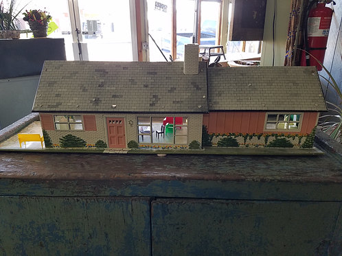 1960's Metal Doll House & Furnishings