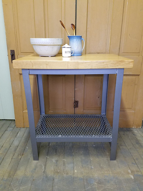 Industrial Factory Stand Kitchen Island / Bowling Alley Top