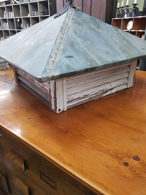 Vtg Square Copper Roof Cuploa