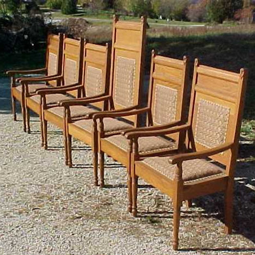 Six Antique Altar Chairs