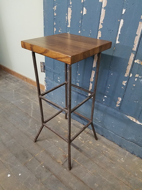 Vintage Industrial Square Metal Stand Table