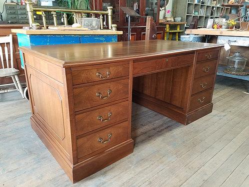 Vtg Walnut Executive Desk, refinished