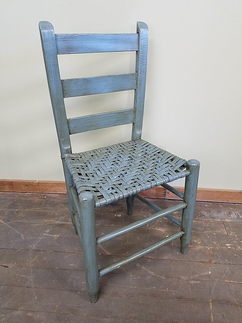 Small Antique Ladderback Primitive Chair