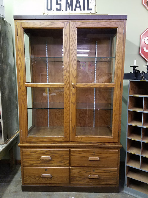 Oak Display or Showcase (2Pc)