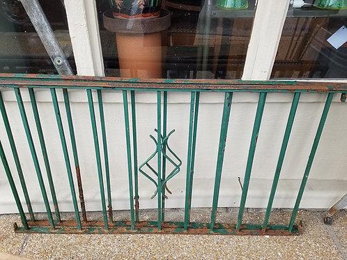 Vtg Iron Porch Rail
