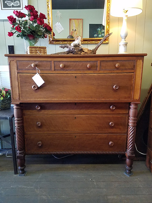 Antique American Empire Cherry Dresser