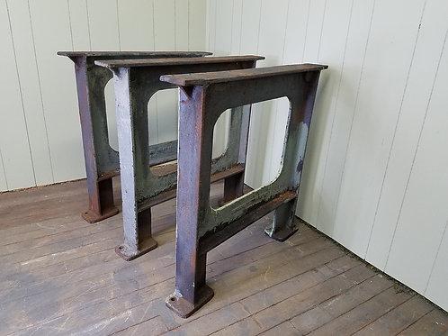 Three Vintage Industrial Factory Machine Legs