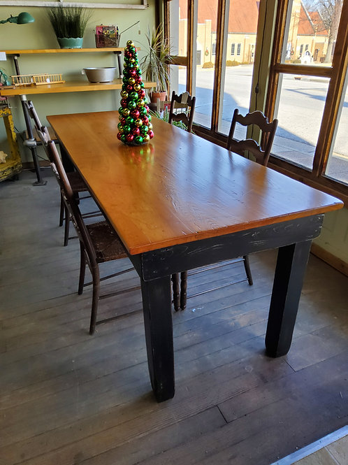 8ft Old Harvest Table