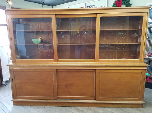 1930's Two Piece Oak Bookcase