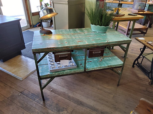 Industrial Two Door Desk/Table