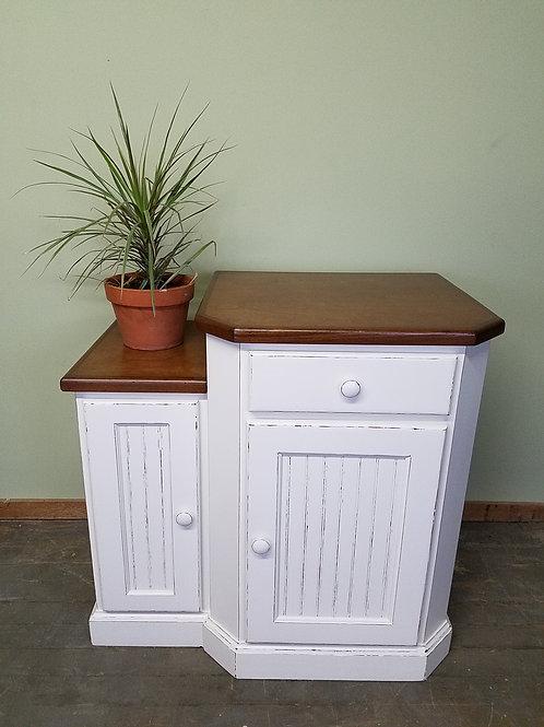 Farmhouse Kitchen Island / Microwave Cabinet